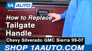 100 Chevy Truck Tailgate How To Replace Handle Bezel 9906 GMC Sierra 1A Auto
