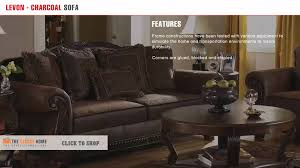 Claremore Antique Sofa And Loveseat by Ashley Furniture Bradington Traditional Truffle Fabric Sofa Youtube