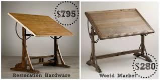 restoration hardware 1920 s drafting table decor look alikes