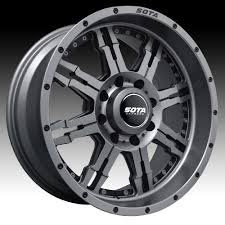 SOTA Offroad JATO Anthra-Kote Custom Truck Wheels Rims - SOTA ... New 2015 Tuff At Wheels Allterrain Offroad Jeep Truck Suv Pin By Leo On Pinterest Offroad Trucks And Cars Winter Tires On The Off Road Wheel In Deep Snow Close Up Grid Titanium W Matte Black Lip 4pcs Rims Tyres For 110 Traxxas Road 1182 Custom Asanti Ab811 Satin With Milled Accents Rucci Forza 2pc Paint Inside Cali Switchback Dealr Automotive Lifted Lweight Honrsboardscouk