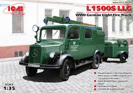 100 German Trucks L1500S LLG WWII Light Fire Truck ICM 35526