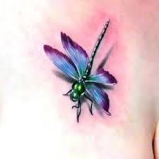 Little 3D Dragonfly Tattoo Idea