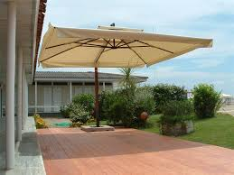 Offset Rectangular Patio Umbrellas by Patio Oversized Patio Umbrellas White Square Modern Fabric