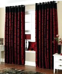 Red Curtains For Living Room