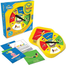Krypton Thinkfun Games Yoga Spinner Game Kids Activity Board For