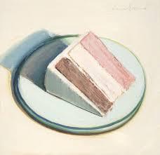 Wayne Thiebaud Cake Slice 1979 Oil on wood panel 10 x 11 inches x cm