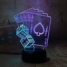 karten spielen3d le nachttischle nachtlicht fürs