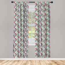 gardine fensterbehandlungen 2 panel set für wohnzimmer schlafzimmer dekor abakuhaus blumen aquarell kunst tropical kaufen otto