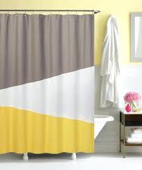 Yellow And White Curtains Canada by Shower Curtains Yellow Grey Shower Curtain Bathroom Images