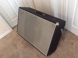 Fender Bassman Cabinet 1x15 by Rare Fender Showman 1x15 Guitar Speaker Cabinet 1960s Black Reverb