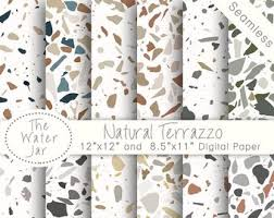 Digital Terrazzo Designs Natural Tile Patterns Texture Wallpaper Design Resource Paper Pack Colored Stone