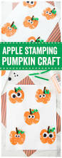 Spookley The Square Pumpkin Activities Pinterest by Apple Stamping Pumpkin Craft Time Activities Harvest Time And