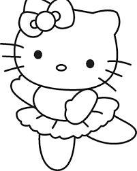 Coloriage Hello Kitty Danseuse Ancenscp For Un Coloriage De Hello