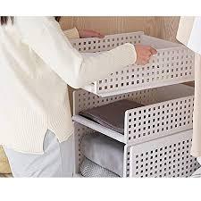 yoillione regal kleiderschrank organizer schublade weiß für