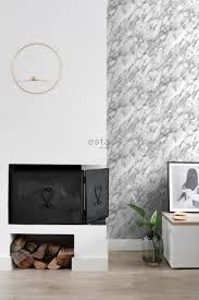 tapete marmor optik schwarz weiß