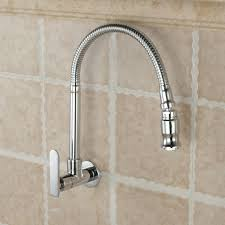 Diy Kitchen Faucet Mttuzk In Wall Mounted Brass Kitchen Faucet Fold Expansion