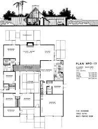 100 Eichler Home Plans Floor PlanHPO15 Architecture Vintage House Plans