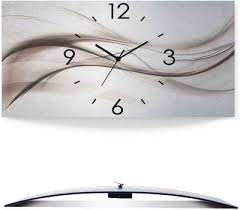 artland wanduhr abstraktes design schöne welle 3d optik gebogen