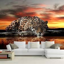 3d wallpaper fototapete leopard 3dwallpapermural