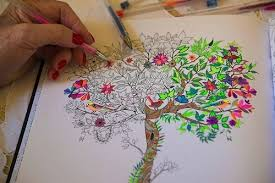 Coloring Adult Drawings With Gel Pen