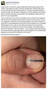 Nail Bed Melanoma by Woman Posts Facebook Warning Over Black Line On Fingernails After