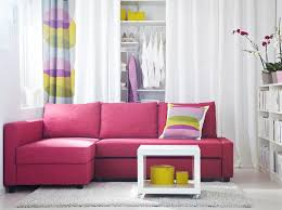 Heavenly Ikea Canape D Angle Convertible Id Es Friheten Corner Sofa Bed With Skiftebo Cerise Cover And Lack White