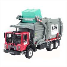 100 Diecast Garbage Trucks Kaidiwei 124 Die Cast Truck Red Color Metal Model Collection