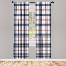 gardine fensterbehandlungen 2 panel set für wohnzimmer schlafzimmer dekor abakuhaus mode englisch tartan motiv kaufen otto