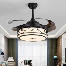 neue chinesische unsichtbare schwarze esszimmer wohnzimmer studie decke fan licht haushalt hohe wind decke le decke fan