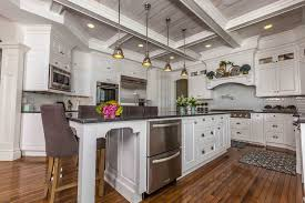 lighted coffered ceiling kitchen traditional with island lighting