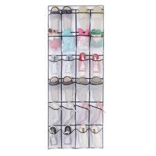 24 Pocket Shoe Space Door Hanging Organizer Storage Rack Wall Bag