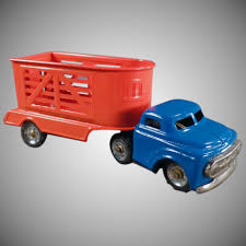 Vintage Tin Toy Truck With Horse Trailer - Small Scale Japanese Tin ... Dickie Toy Dhl Yellow Man Truck Lorry Semi Trailer Model Youtube Toy Wood Tractor Trailer Truck Semi Etsy Beli Daymart Toys Remote Control Cars Mack Mainan Anak Amazoncom Off Road Police Transporter 132 Childrens Long Haul Trucker Newray Ca Inc Shop Velocity Power Freight Friction Ready To Harga Online Hot Pixar Lightning Mc Queen Chick Hicks Bruder Tga Low Loader With Jcb Backhoe On Motsports Race Car Kids Kelebihan Dan Affluent Town 1 Skala 64 Die Cast Scania Carrier Cek Boys Model Pull Back With
