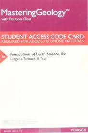 MasteringGeology With Pearson EText ValuePack Access Card For Foundations Of Earth Science