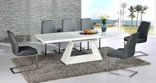 Dining Table With Grey Chairs Extending White Glass 6 Tables And High Gloss