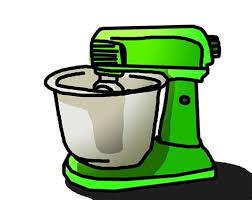 GREEN STAND MIXER KITCHEN APPLIANCE CLIP ART