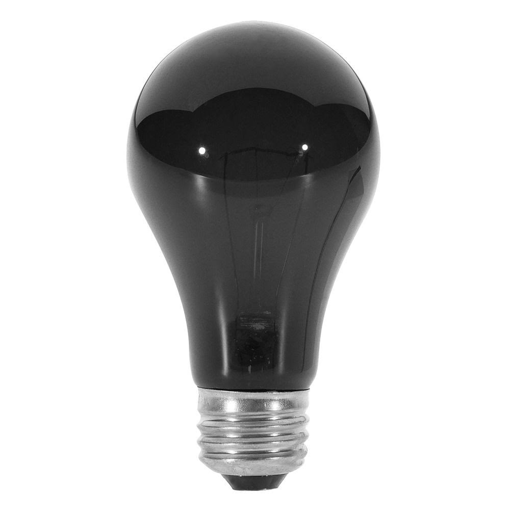 Satco A19 E26 Base Incandescent Light Bulb - 75W, 120V, Black Light