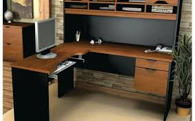 Realspace Magellan Corner Workstation by Brilliant Figure Vanity Desk Next To Natural Wood Desk With Hutch