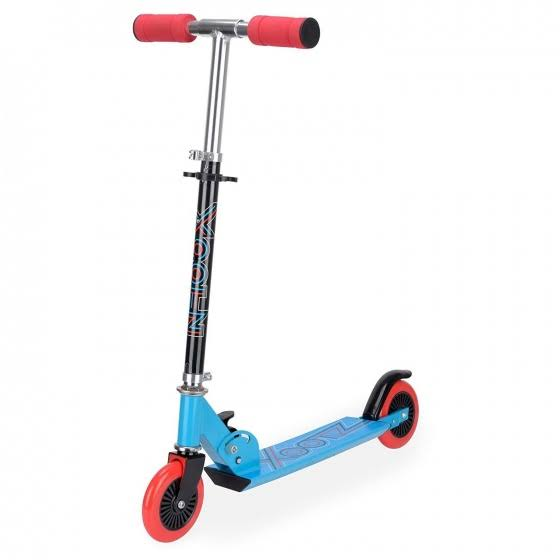 Xootz Folding Scooter Blue