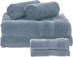 idesign 6er set badtextilien für das badezimmer und gäste wc weiches handtücherset aus 100 baumwolle handtuch set mit je 2 handtüchern badetüchern