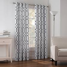 Bed Bath And Beyond Curtains Draperies by Newport Wave Light Filtering Grommet Top Window Curtain Panel