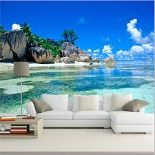 Wall Mural Decals Beach by To Paint A Beach Wall Murals Scene Laluz Nyc Home Design