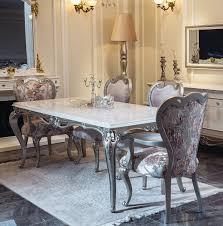 casa padrino luxus barock esszimmer set rosa weiß silber 1 esstisch 6 esszimmerstühle esszimmer möbel im barockstil edle barock möbel