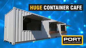 104 40 Foot Shipping Container Huge Ft Cafe Port S Youtube