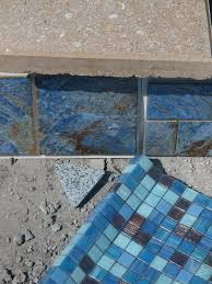 6x6 Glass Pool Tile by The New Blue Pool February 2011