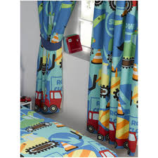 Lined Curtains For Bedroom by Construction Time Lined Curtains Bedroom Diggers Boys