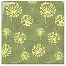 grün gelb löwenzahn dekorative muster pflanzen keramik