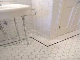 white hexagon bathroom floor tile design of your house its