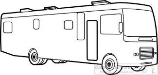 Motor Home Class A Outline Clipart