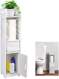 gotega kleine badezimmer aufbewahrung toilettenpapier aufbewahrung eck bodenschrank mit türen und regalen hohl geschnitztes design