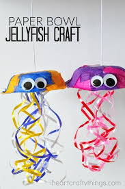 This colorful jellyfish craft for kids is a great for a summer kids